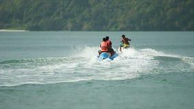 Jet Ski And Banana Boat 02 stock video