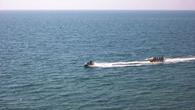 Jet Ski And Banana Boat stock videobeelden