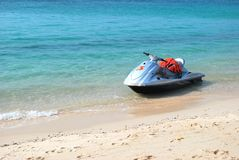Jet ski on the beach. Royalty Free Stock Images