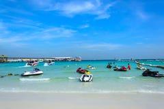 Jet-ski on beach in koh lan, Thailand Royalty Free Stock Photo