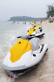 Jet ski on beach Royalty Free Stock Photo