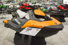 Jet Ski on display at the Los Angeles Boat Show on February 7, 2 Stock Photography