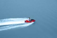 Jet Ski drive. 2 people enjoying Jet Ski drive Royalty Free Stock Images