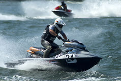 Jet Ski driver in action-2 Royalty Free Stock Photo