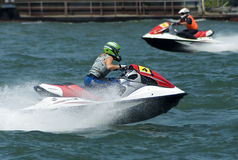 Jet Ski driver in attractive ride Royalty Free Stock Photos