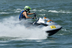 Jet Ski driver Dragan Zaric in race Stock Images