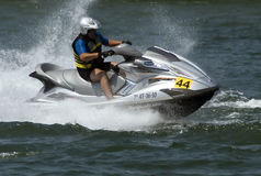 Jet Ski driver during the race-1 Stock Image