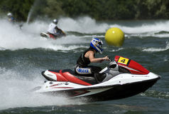 Jet Ski driver during the race-2 Royalty Free Stock Image