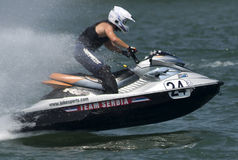 Jet Ski driver during the race Stock Images