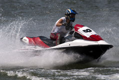 Jet Ski driver in race Royalty Free Stock Photography