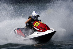 Jet Ski driver surrounded by waves-5 Stock Photo