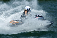 Jet Ski driver in the waves Stock Photography