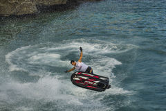 Jet ski free style competition florjancic Royalty Free Stock Image