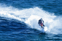 Jet-ski fun on a day Royalty Free Stock Image