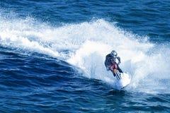 Jet-ski fun on a day. In sea Royalty Free Stock Image