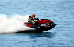 Jet Ski on high Speed at sea Royalty Free Stock Photography