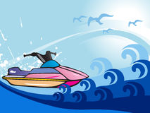 Jet ski  illustration Stock Photography