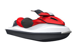 Jet Ski. Isolated on White Background. 3D render Stock Photos