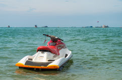 Jet ski. This is jetski are ready for use on sea at thailand Royalty Free Stock Photo