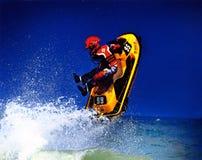 Jet Ski Jump. Extreme Wave Runner Jet Ski Jump Stock Images