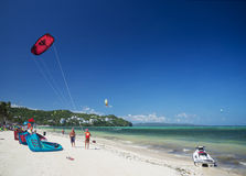 Jet ski and kite surf in bolabog beach boracay philippines Stock Photo