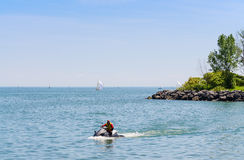 Jet ski on Lake Ontario Stock Photography