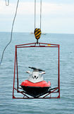 Jet ski lift for dry storage Royalty Free Stock Photo