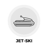 Jet-Ski Line Icon Photo libre de droits
