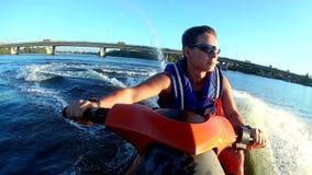 Jet ski stock video footage