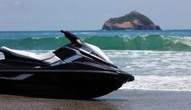 Jet ski at  Manuel Antonio national park beach in Costa Rica, most beautiful beaches in the world, surfer beaches in America Stock Photography