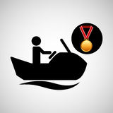 Jet ski medal sport extreme graphic Stock Photography
