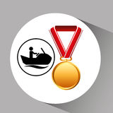 Jet ski medal sport extreme graphic Royalty Free Stock Images