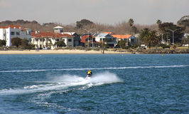 Jet Ski, Melbourne Australia. Riding a Jet Ski at St Kilda, Melbourne, Australia Royalty Free Stock Photo