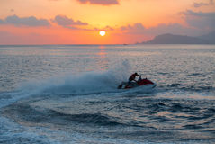 Jet ski men showed Royalty Free Stock Photo