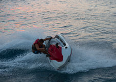 Jet ski men showed Royalty Free Stock Photos