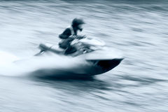 Jet ski motion Royalty Free Stock Photos
