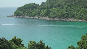 Jet ski moving fast across Phuket bay, Thailand. Clip stock video