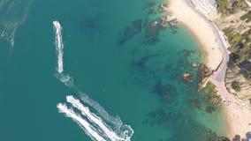 Jet ski nell'azione immagine stock