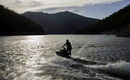 Jet Ski no lago Fotografia de Stock