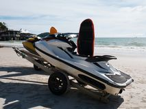 Jet Ski Not in Operational in the Beach. Jet Ski Not Operational in the Beach. Located in Langkawi Malaysia royalty free stock image