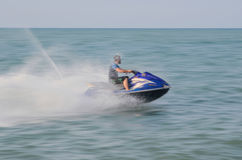 Jet Ski. NOWSHAHR, IRAN - JULY 29, 2016 - Jet skiing in Caspian sea, northern Iran Royalty Free Stock Images
