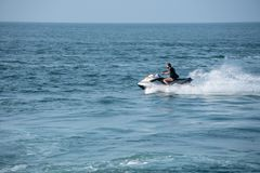 Free Jet Ski Or Wave Runner In Ocean Off Ilfracombe Stock Photography - 117464952