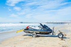 Jet ski in Pacific beach. California stock image