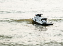 The jet ski parked on the beach. Royalty Free Stock Photos