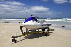 Jet ski. Parked at the beach in Cape Town, South Africa Stock Photography
