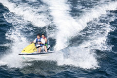 Jet ski with people in Acapulco bay Stock Image