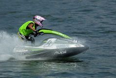 Jet Ski Race-1. BELGRADE - AUGUST 15: IJSBA WORLD ENDURANCE CHAMPIONSHIP Royalty Free Stock Photo