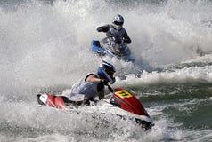 Jet Ski Race-16. BELGRADE - AUGUST 16:IJSBA EUROPEAN ENDURANCE CHAMPIONSHIP Royalty Free Stock Photo