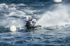 Jet ski race competition boa Stock Photo