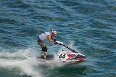 Jet ski race competition Royalty Free Stock Images